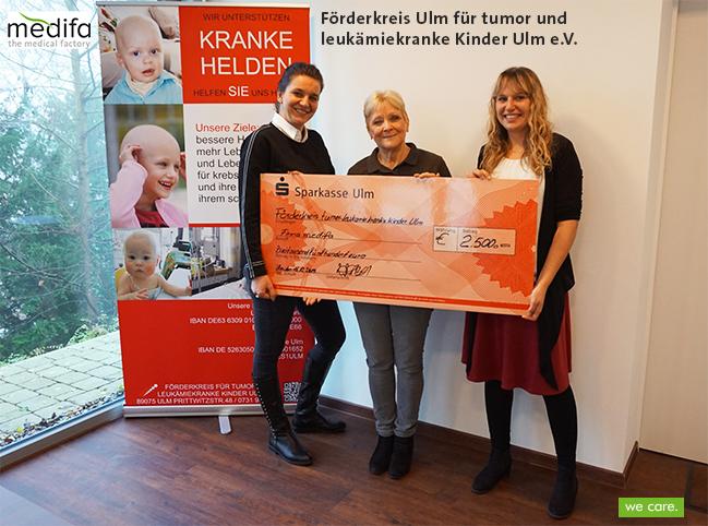 We care – Spende an kranke Helden des Förderkreises Ulm für tumor und leukämiekranke Kinder Ulm e.V.