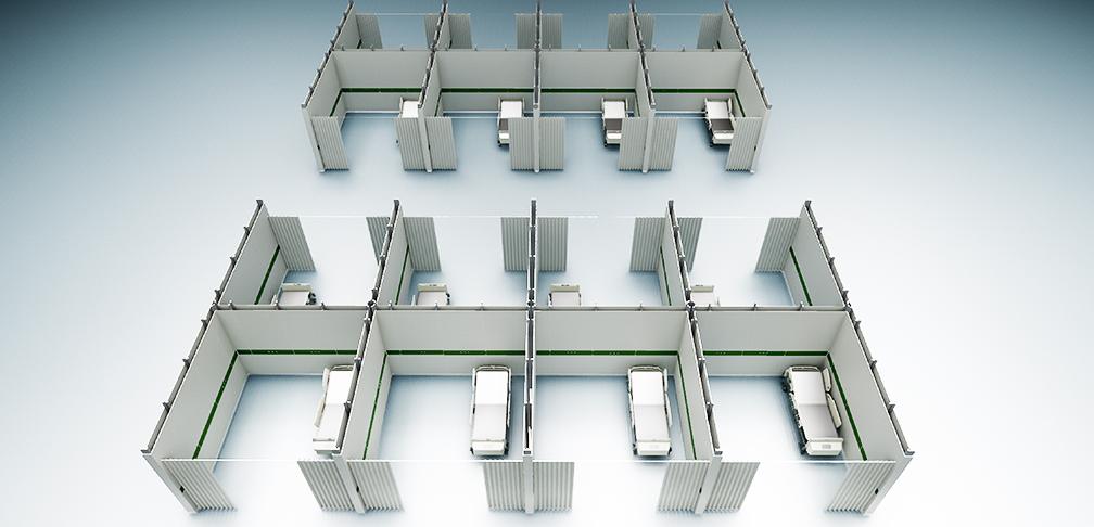 Notfallkrankenhaus Corona modular