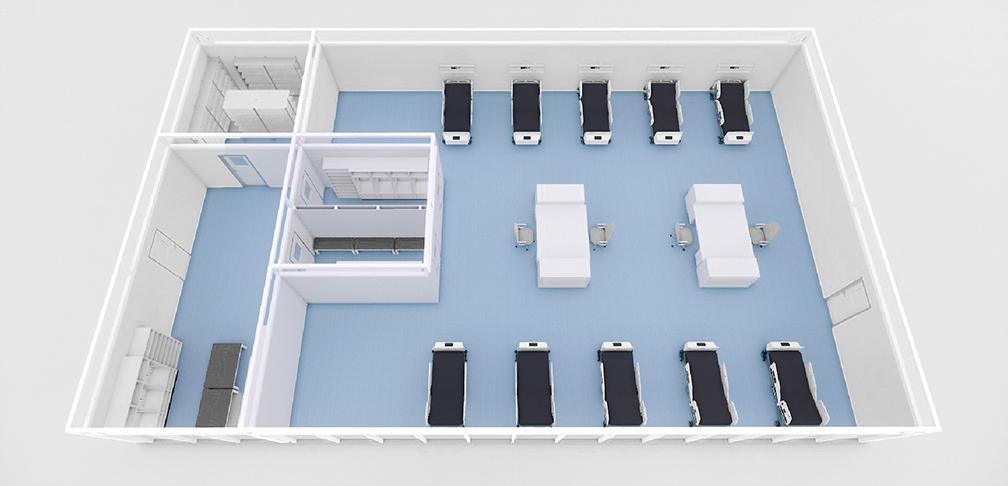 Mehrbettzimmer Großraum Notfallkrankenhaus