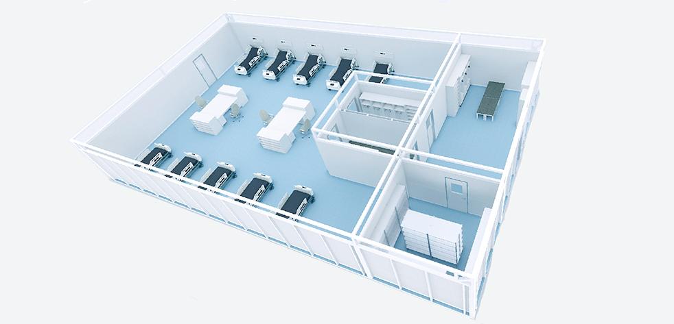 RooSy Notfallkrankenhaus Mehrbettzimmer