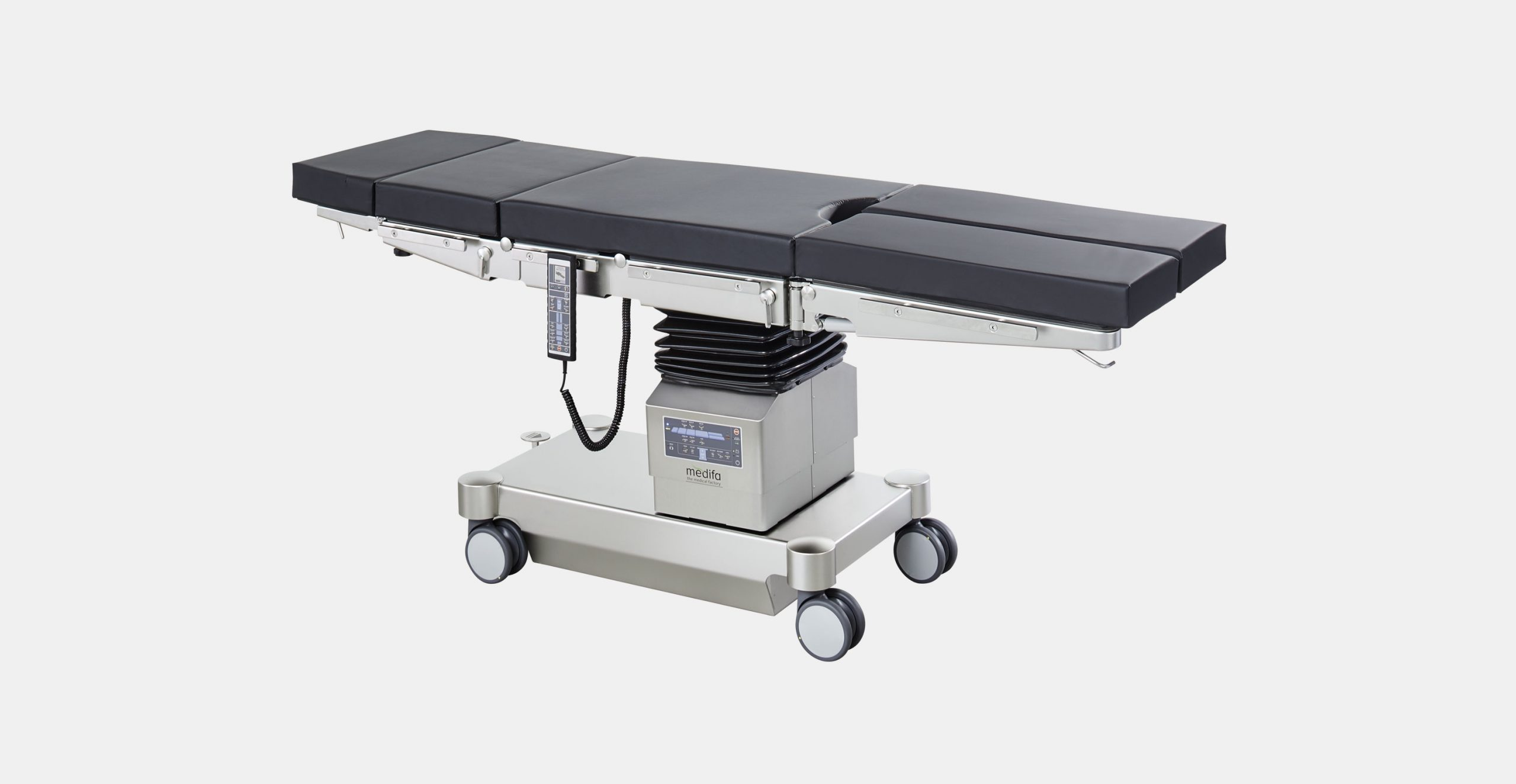 Mobile operating table with two electrohydraulical adjustable joint medifa 6000