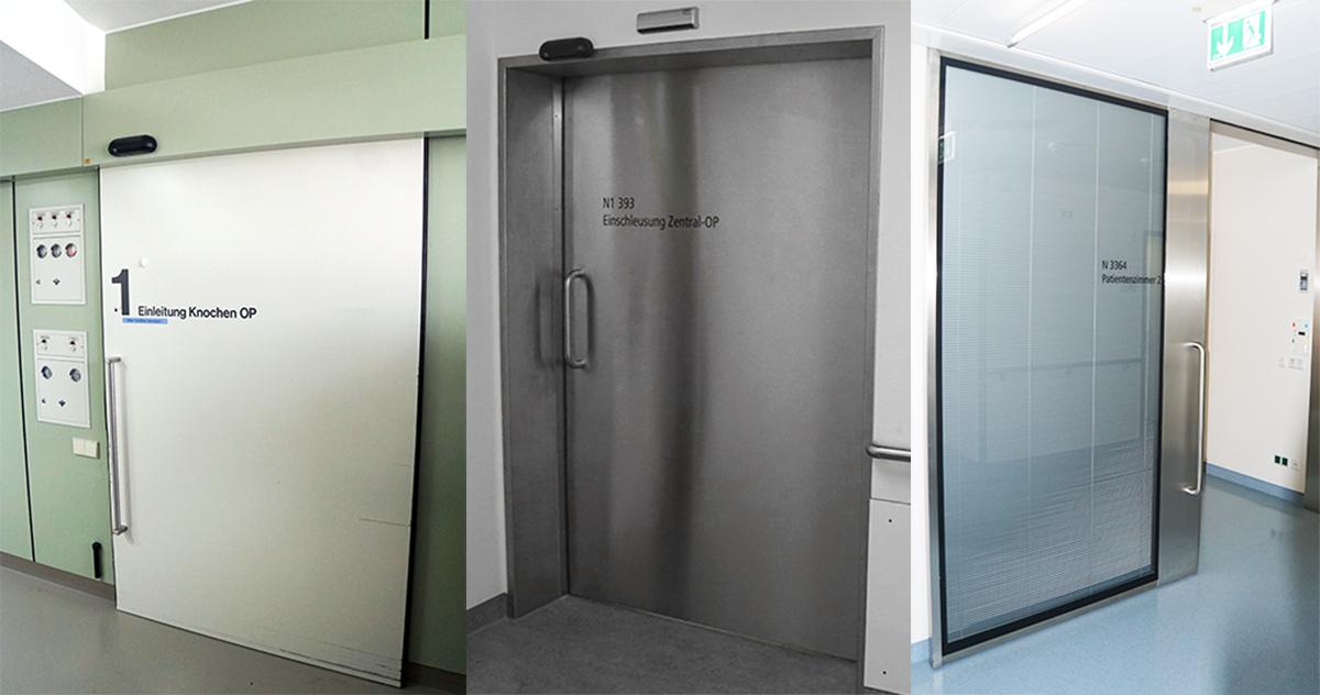 Retrofitting of existing doors from VARIOP in the Klinikum Siloah Pforzheim