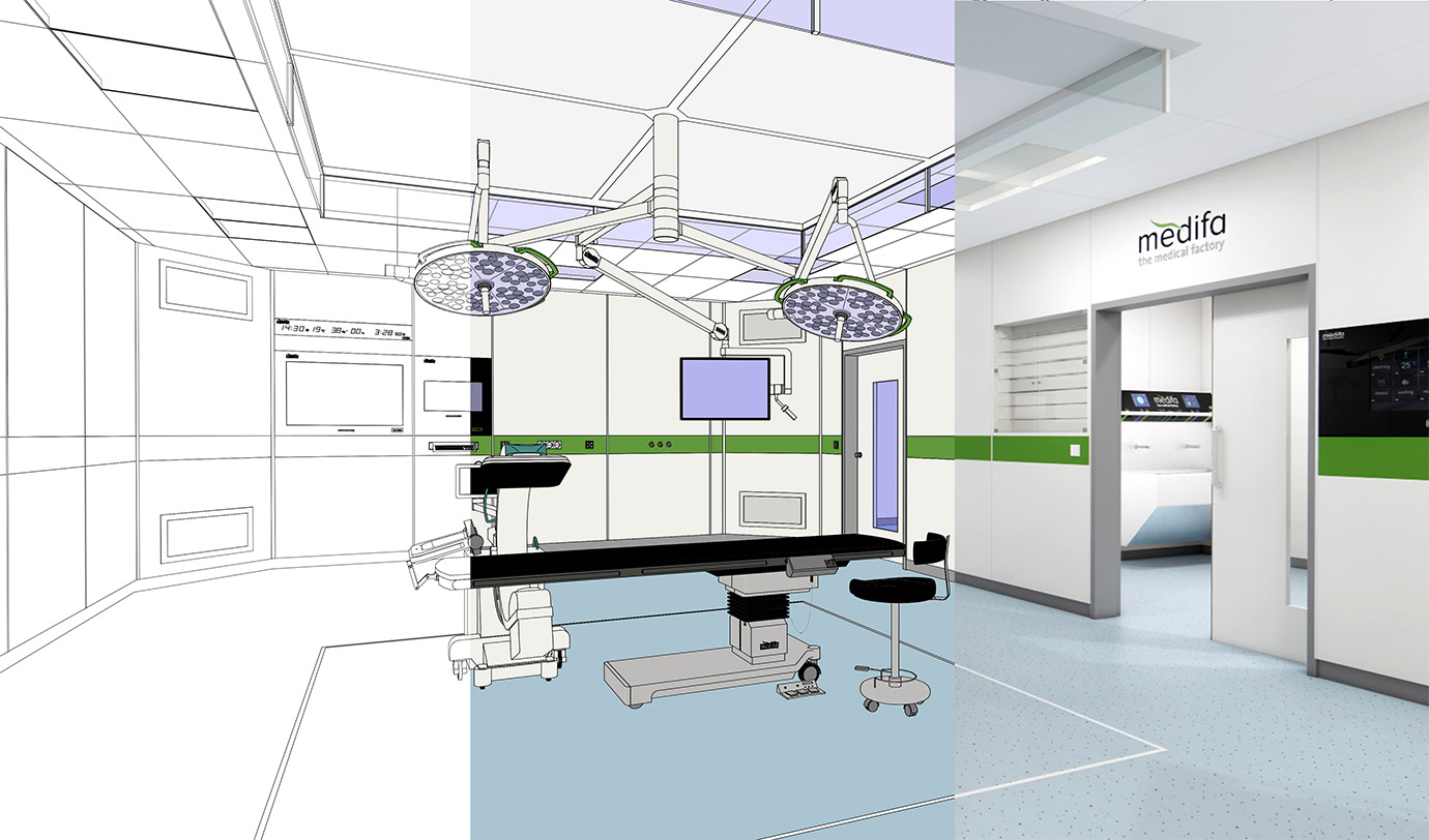 modular room system operating room